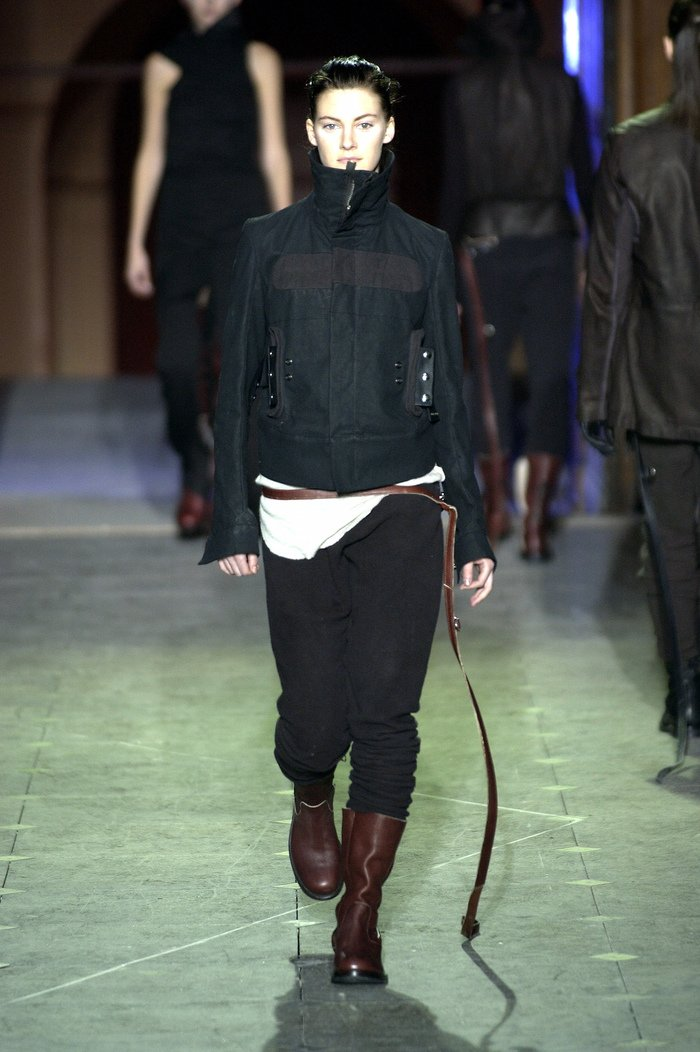 Collections cover rick owens aw03 trucker runway 04