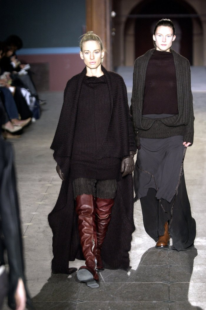 Collections cover rick owens aw03 trucker runway 014