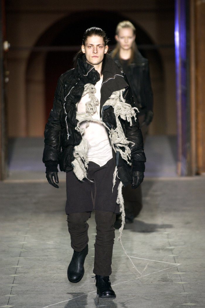 Collections cover rick owens aw03 trucker runway 016