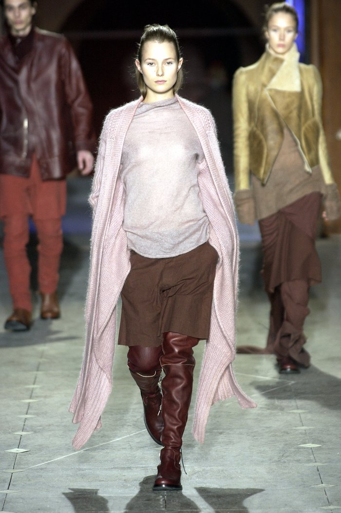 Collections cover rick owens aw03 trucker runway 020