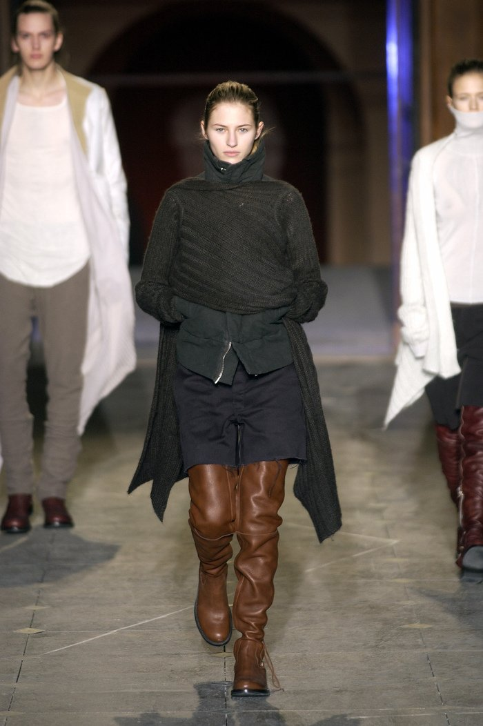 Collections cover rick owens aw03 trucker runway 032