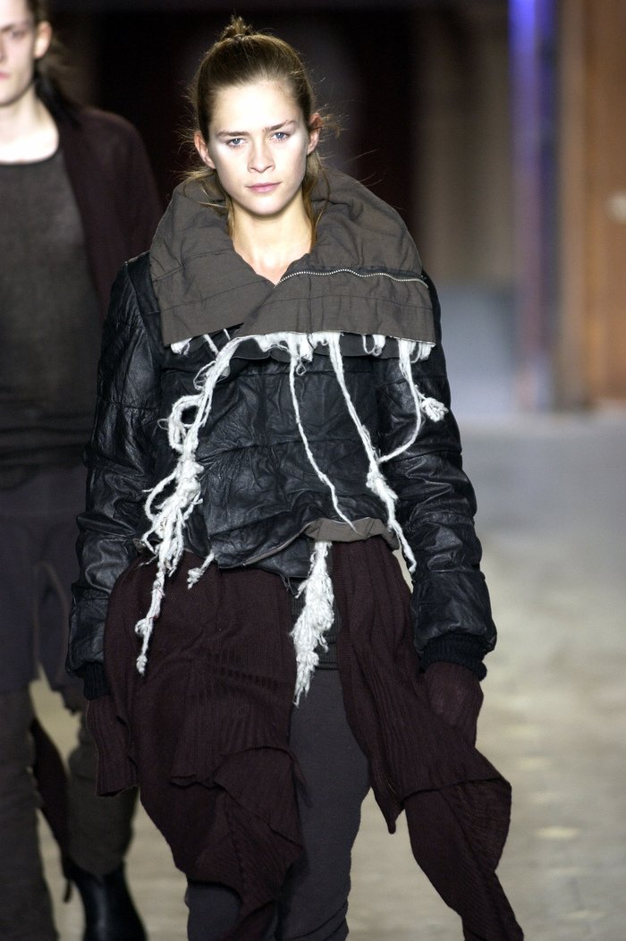 Collections cover rick owens aw03 trucker runway 038