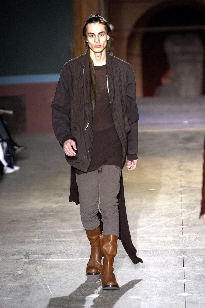 Collections cover rick owens aw03 trucker runway 045