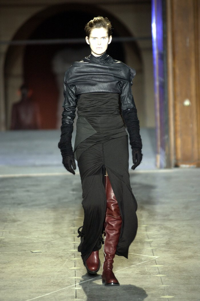 Collections cover rick owens aw03 trucker runway 046