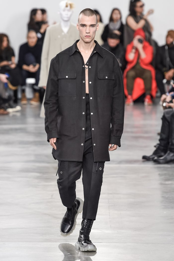 Collections cover rick owens menswear fw18 paris looks 18