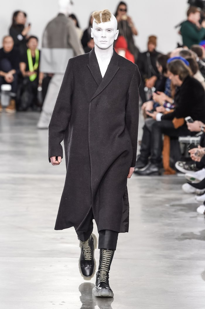 Collections cover rick owens menswear fw18 paris looks 25