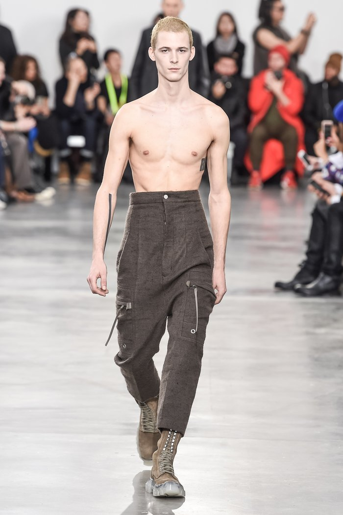 Collections cover rick owens menswear fw18 paris looks 7