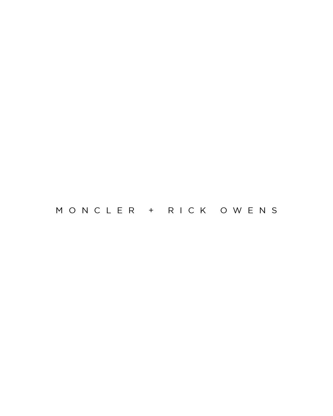 Moncler   rick owens
