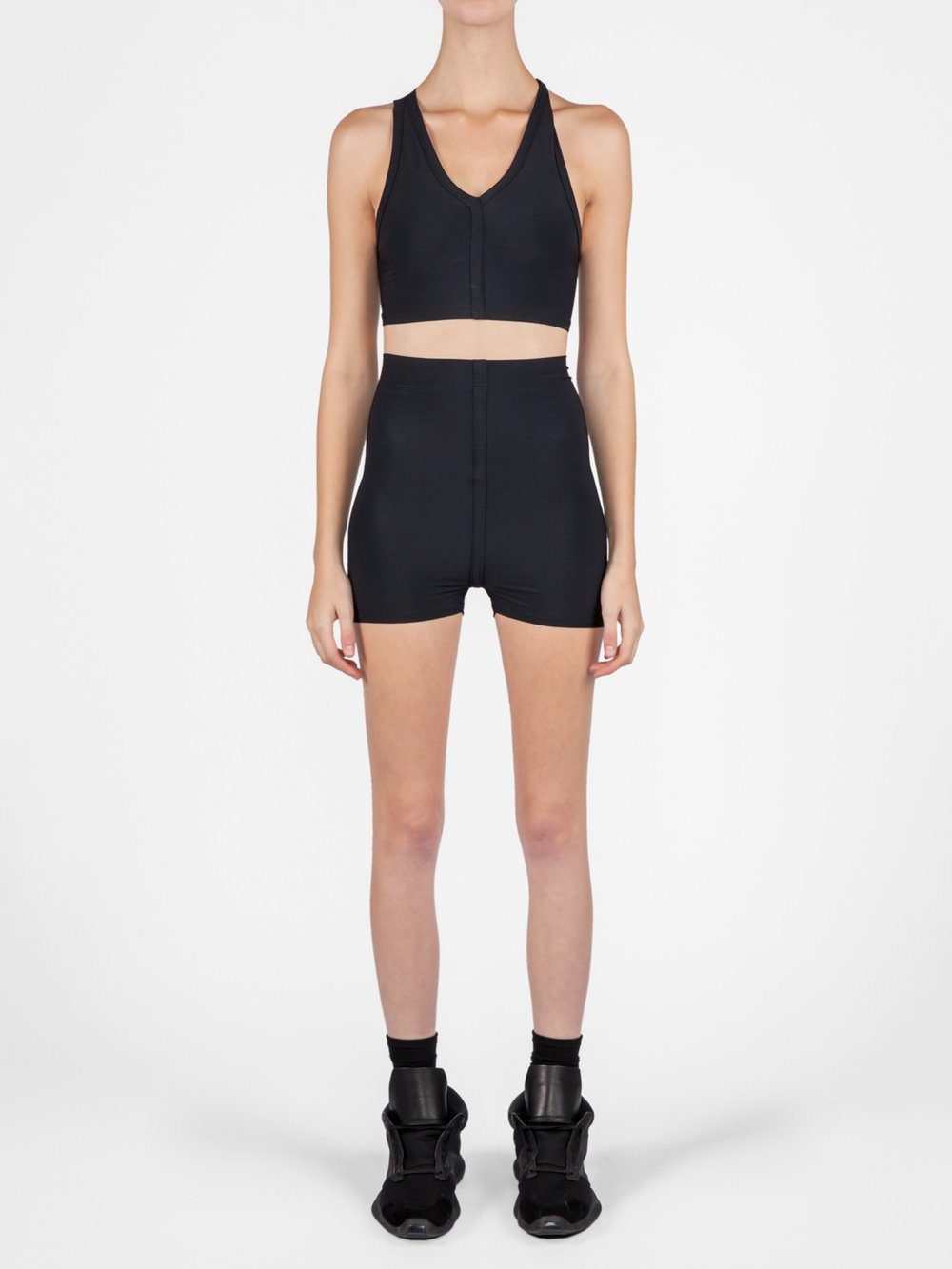 RICK OWENS - V-NECK CROPPED SWIM TOP