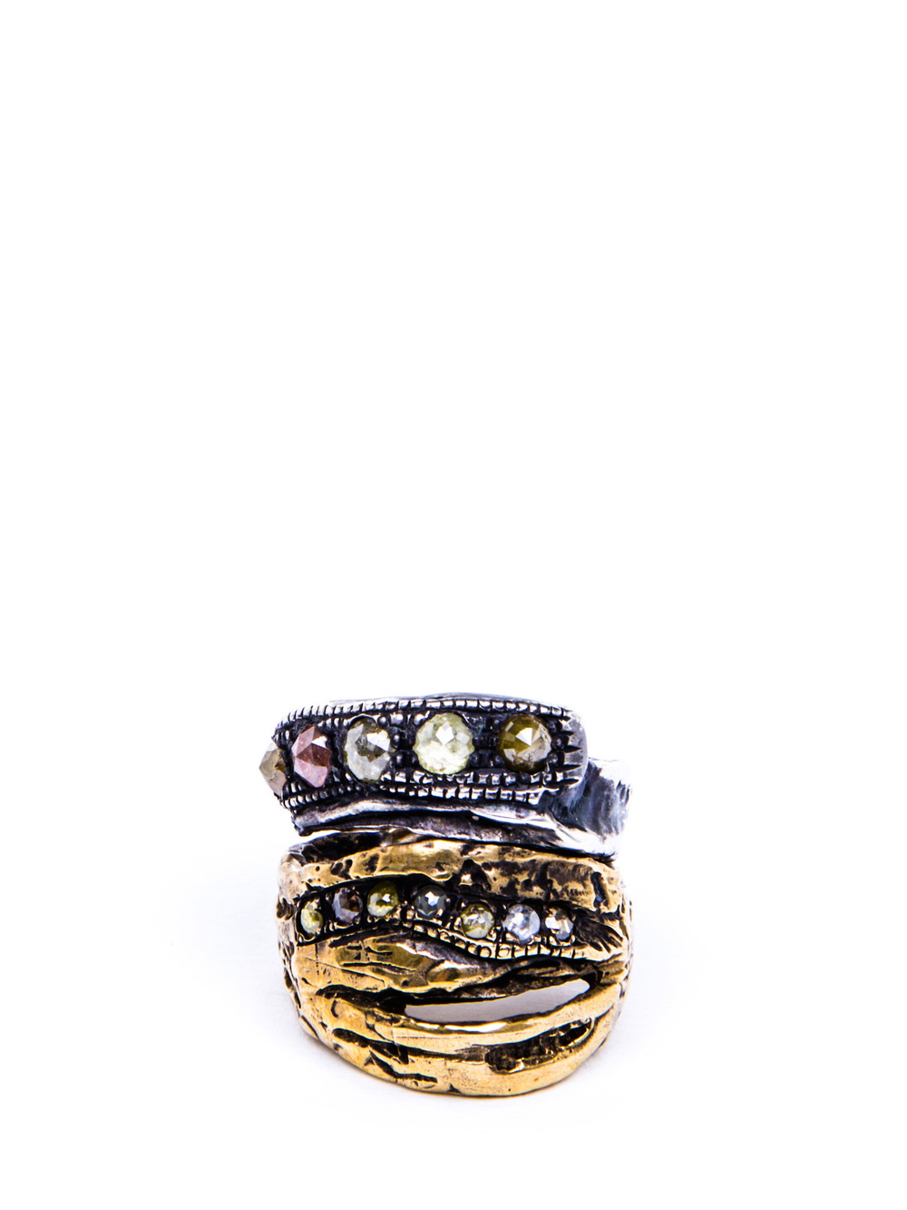 SHORT STRIPED DAVE RING image