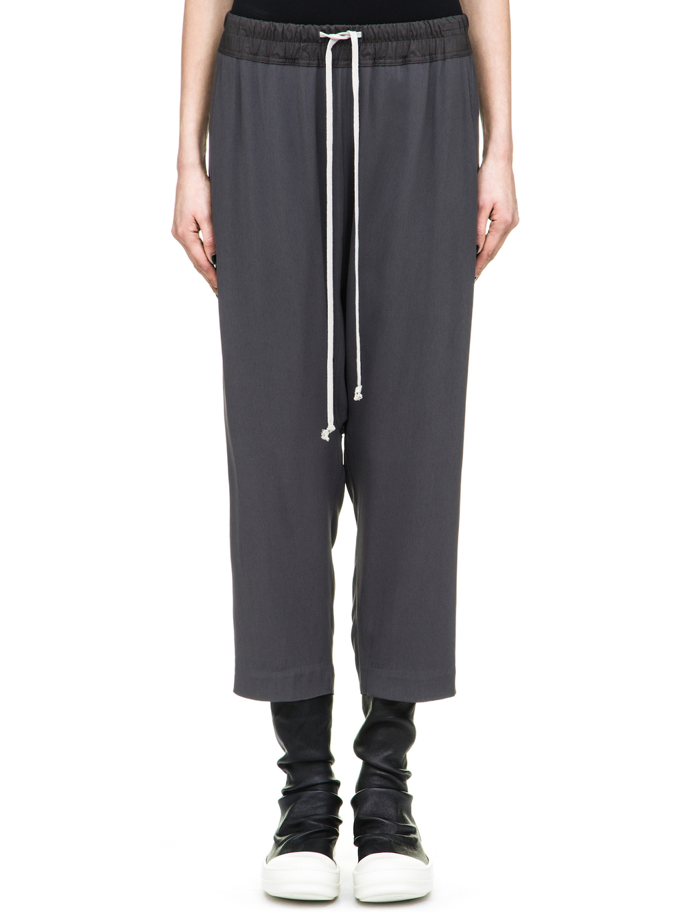 RICK OWENS DRAWSTRING CROPPED PANTS