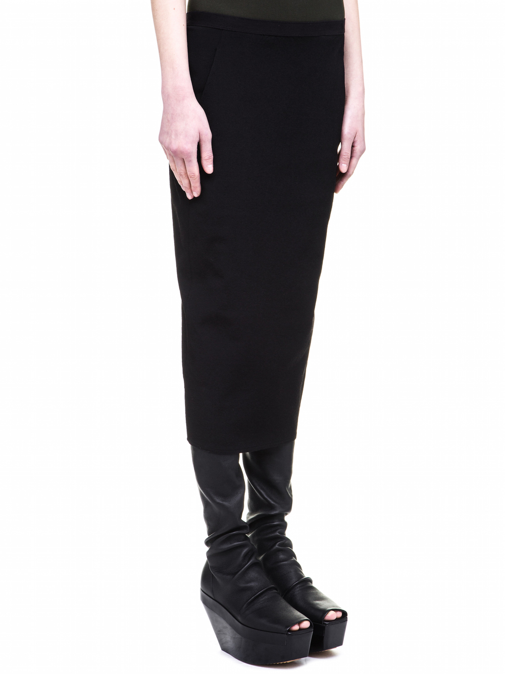 RICK OWENS SOFT PILLAR SHORT SKIRT