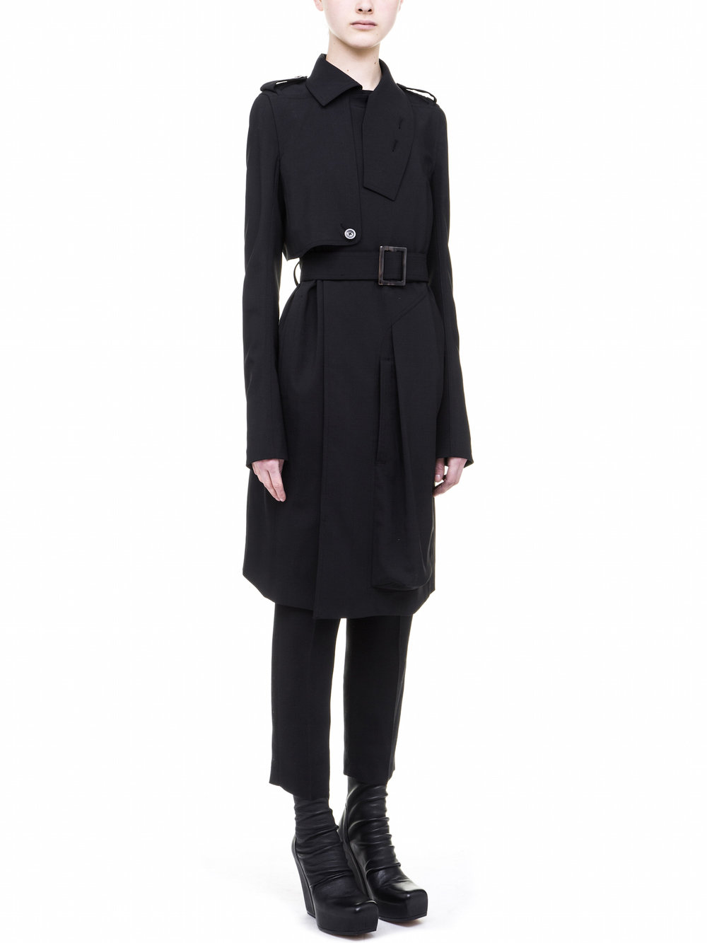 RICK OWENS CARGO TRENCH FOR WOMENS