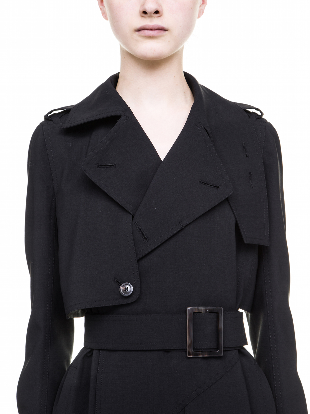 RICK OWENS  BLACK TRENCH