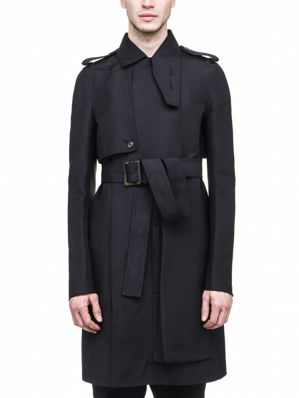 RICK OWENS FALL WINTER CARGO TRENCH IN BLACK