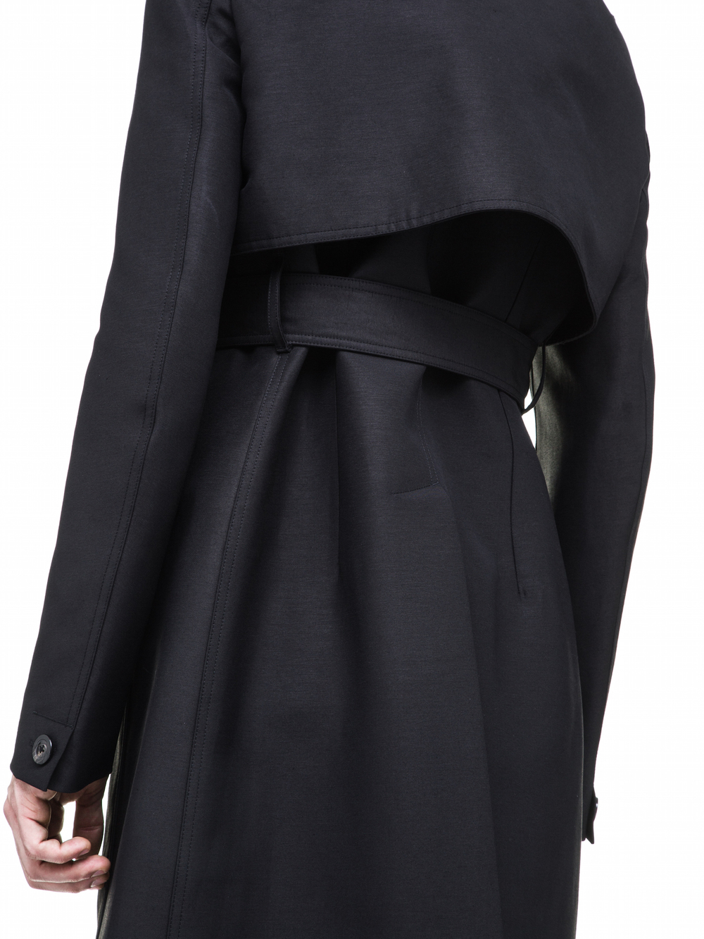 RICK OWENS CARGO TRENCH IN BLACK