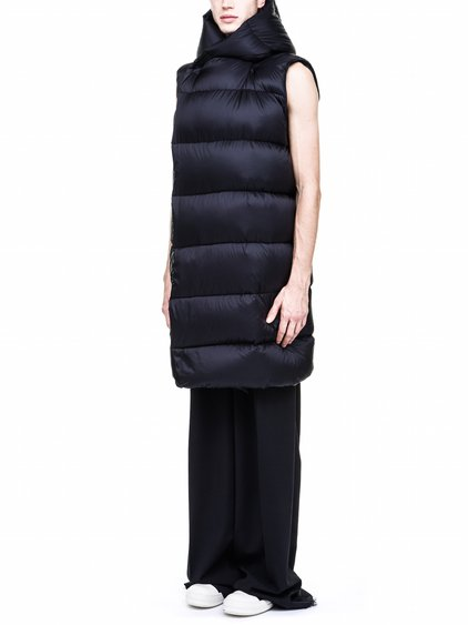 RICK OWENS FW17 LINER IN BLACK NYLON SLEEVELESS