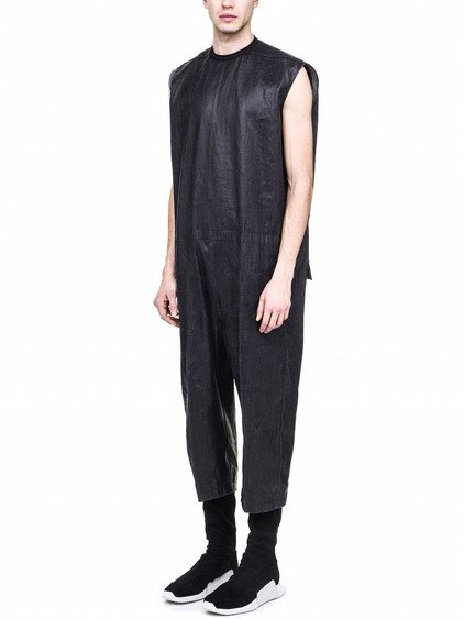 RICK OWENS BANANABAG PEELED CROPPED JUMPSUIT