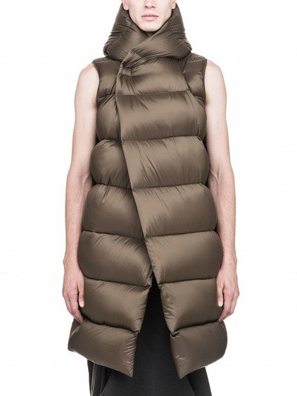RICK OWENS FW17 GLITTER OFF-THE-RUNWAY LINER IN NYLON MICRO FIBER IS SLEEVELESS