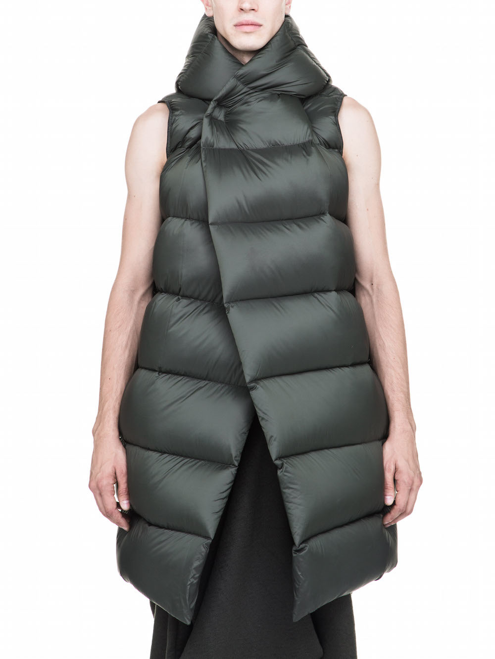 RICK OWENS FALL WINTER LINER IN GREEN