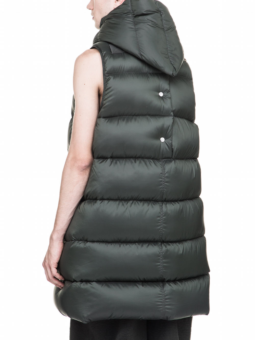RICK OWENS OFF-THE-RUNWAY LINER IN GREEN