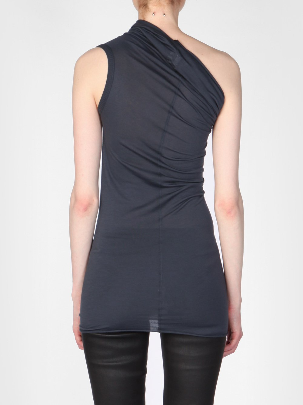 RICK OWENS - ONE SHOULDER TEE
