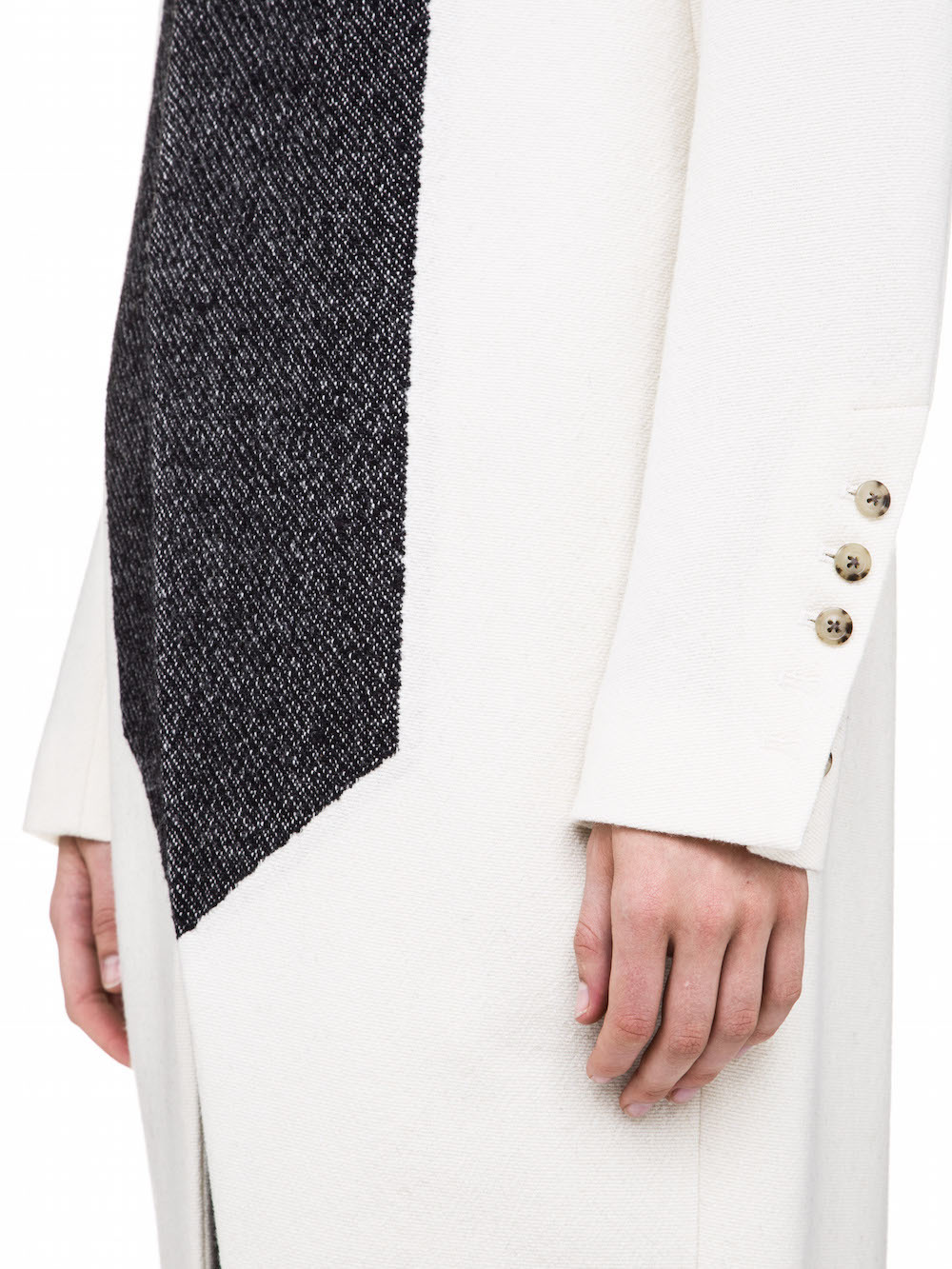 RICK OWENS IN WHITE AND BLACK WOOL