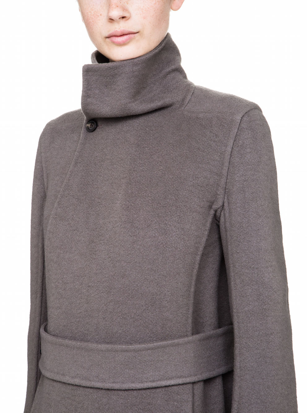 RICK OWENS FALL WINTER  WOMENS COAT IN GREY