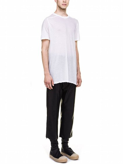 RICK OWENS LEVEL TEE IN WHITE