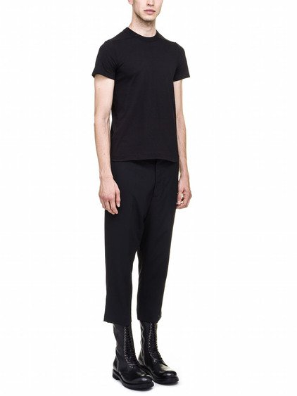 RICK OWENS SHORT LEVEL TEE IN BLACK