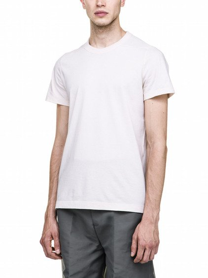 RICK OWENS SHORT LEVEL TEE IN WHITE