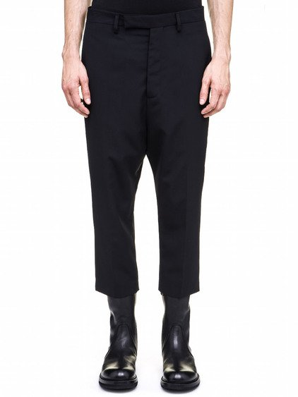 RICK OWENS ASTAIRES TROUSERS IN BLACK WOOL