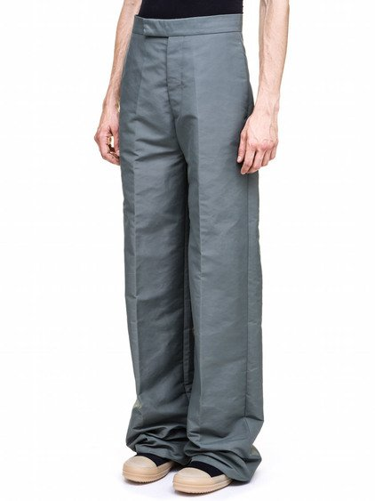 RICK OWENS  SOULTRAINS TROUSERS IN GREEN