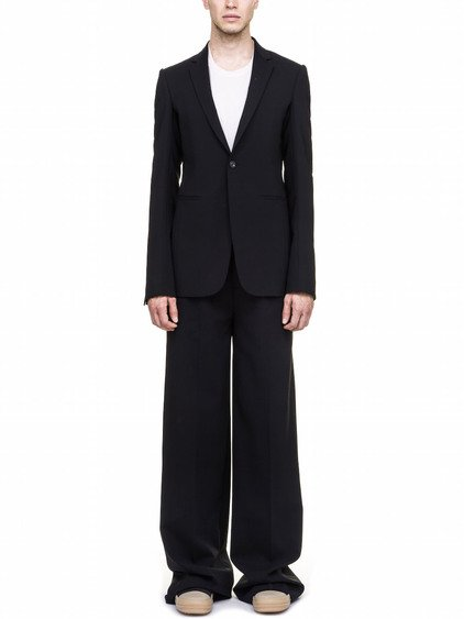 RICK OWENS SOFT BLAZER IN BLACK