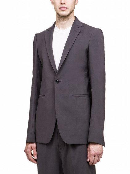 RICK OWENS SOFT BLAZER IN GREY