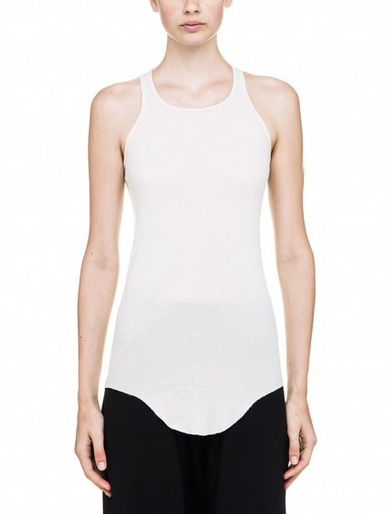 RICK OWENS BASIC RIB TANK TOP IN WHITE