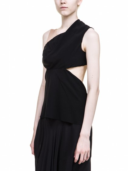 RICK OWENS MARIA CARLA TOP IN BLACK IS SLEEVELESS