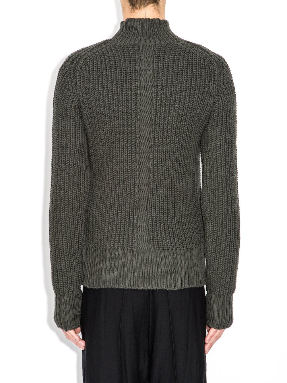 rick owens grey lupetto sweater