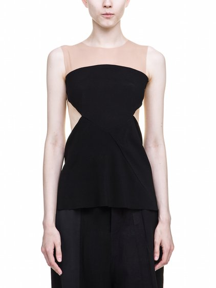 RICK OWENS ALYONA TOP IN BLACK IS SLEEVELESS