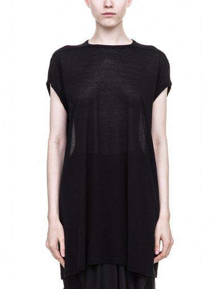 RICK OWENS T SHIRT IN BLACK VISCOSE