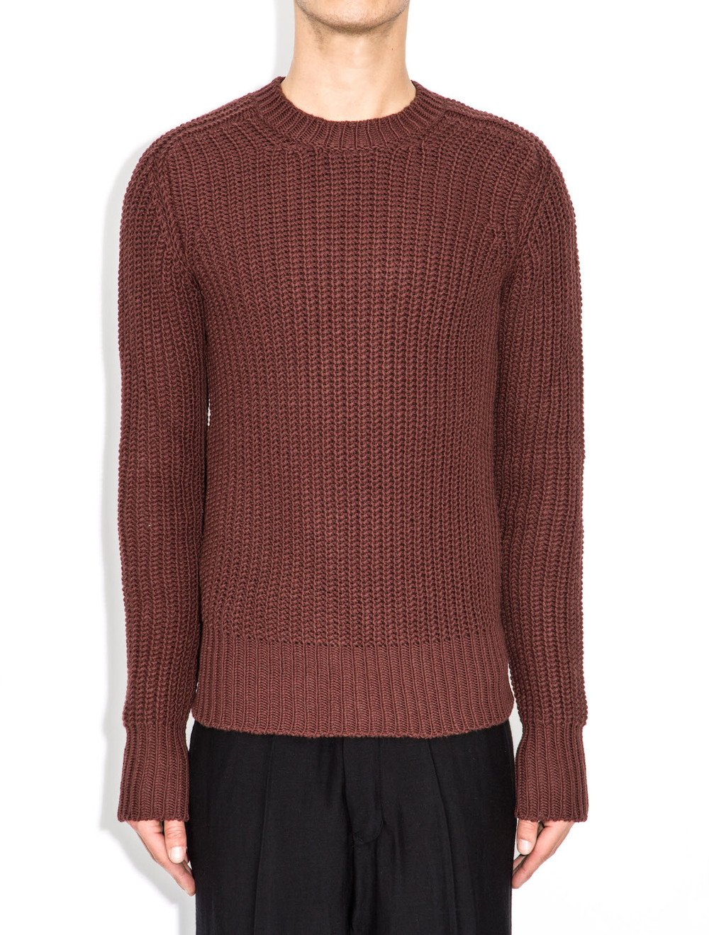 rick owens round-neck sweater