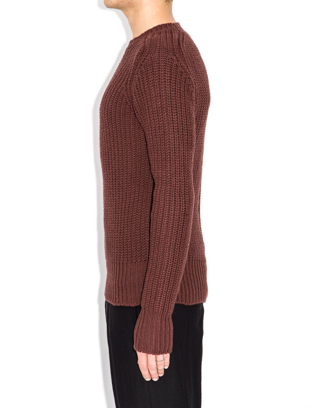 rick owens red sweater