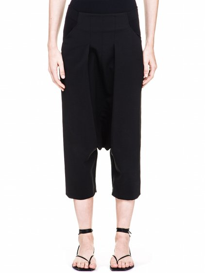 RICK OWENS ELASTIC WAIST PANTS IN BLACK