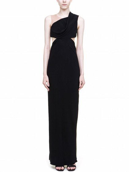RICK OWENS MARIA CARLA GOWN IN BLACK