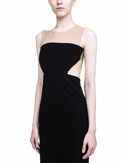 RICK OWENS ALYONA GOWN IN BLACK IS SLEEVELESS