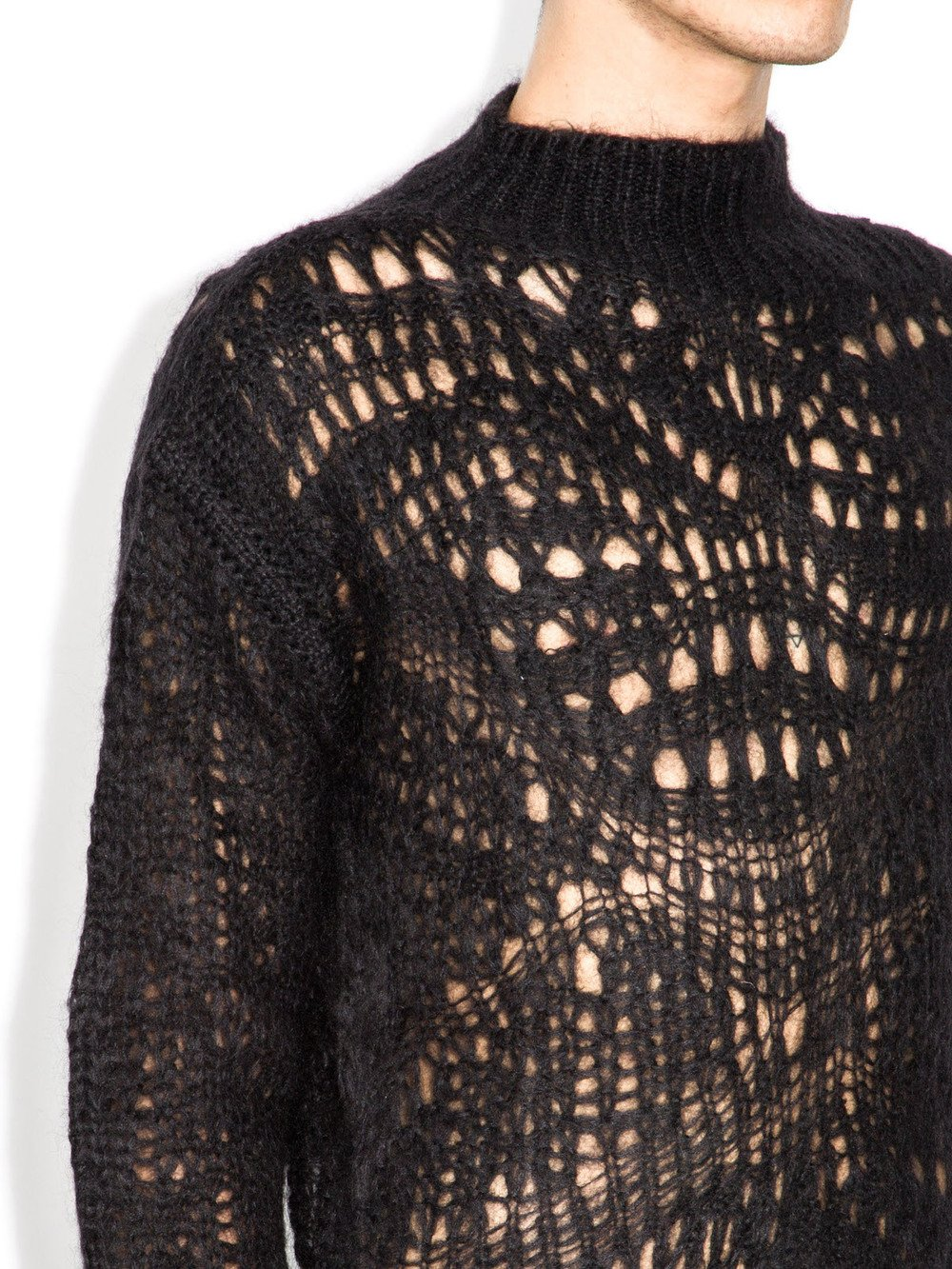 rick owens black sweater