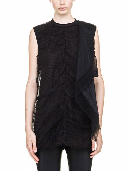 RICK OWENS NEW SMASH TUNIC IN BLACK TULLE