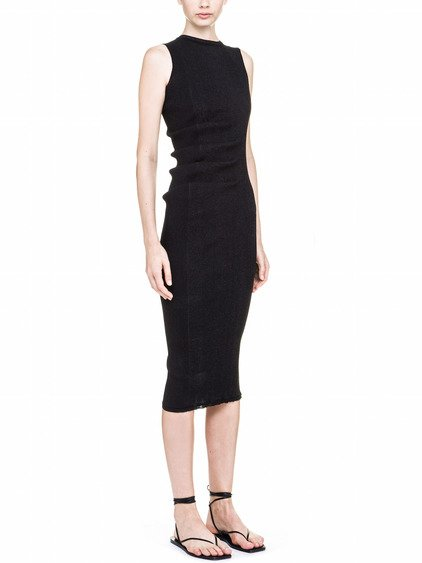 RICK OWENS WHIPPED DRESS IN FADED BLACK