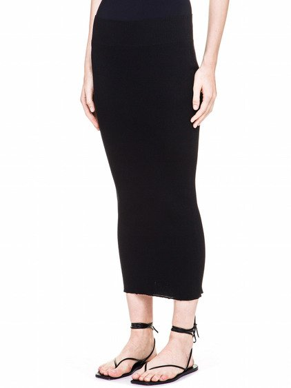 RICK OWENS TUBE SKIRT IN BLACK