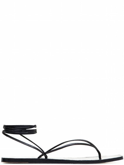 RICK OWENS TANGLE THONG II SANDALS IN BLACK